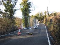 Photo of closure of Lea Road
